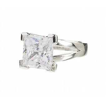 Cavendish French Sterling Silver and Crystal Square Ring