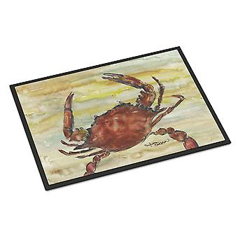 Cooked Crab Yellow Sky Indoor or Outdoor Mat 24x36