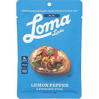 Loma Linda Vegan Plant Based Lemon Pepper Fishless Tuna
