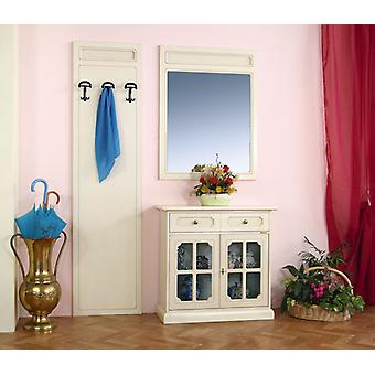 Cupboard entrance with mirror and hangers