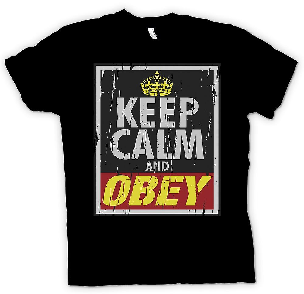 Womens T-shirt - Keep Calm And Obey