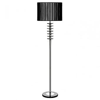 Premier Home Hoop Floor Lamp, Chrome, Crystal, Fabric, Black