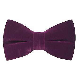 Luxury Aubergine Purple Velvet Bow Tie