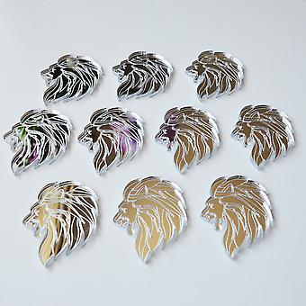 Lion Head Side Profile Mini Craft Sized Acrylic Mirrors (10Pk)