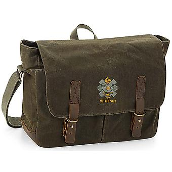 Highland Light Infantry Veteran - Licensed British Army Embroidered Waxed Canvas Messenger Bag