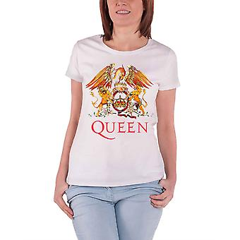 Queen T Shirt Classic Crest Band Logo new Official Womens Skinny Fit