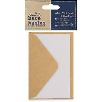 Papermania Bare Basics Cards & Envelopes 10.5cm X 7cm -White PM174352