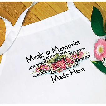 Meals & Memories Apron Stamped Cross Stitch 73518D