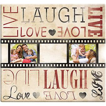 Live Laugh Love Film Strip Post Bound Scrapbook 12