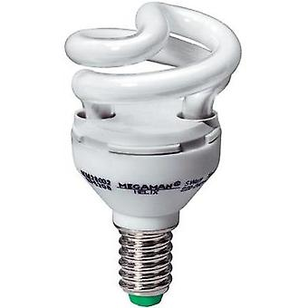Energy-saving bulb 77 mm Megaman 230 V E14 5 W = 30 W Warm white EEC: A Spiral shape Content 1 pc(s)