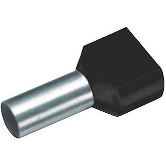 Twin ferrule 2 x 1.50 mm² x 12 mm Partially insulated Black Cimc