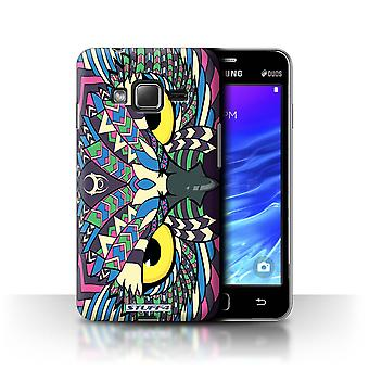 STUFF4 Case/Cover for Samsung Z1/Z130/Owl-Colour/Aztec Animal