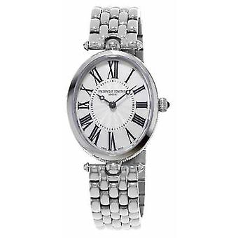 Frederique Constant Womens Art Deco Oval Stainless Steel Bracelet FC-200MPW2V6B Watch