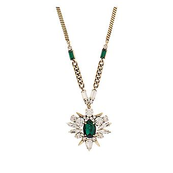 Martine Wester Cosmic Statement Emerald Starburst Pendant