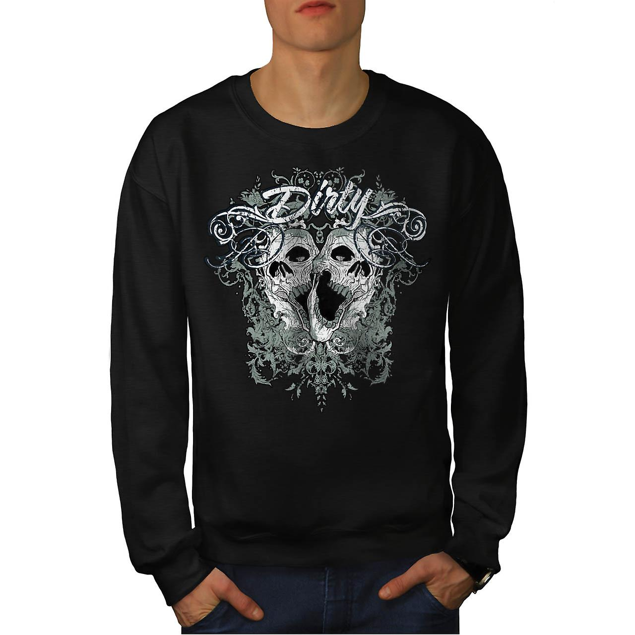 Sale Yard Grave mal crâne Dead Men Black Sweatshirt | Wellcoda