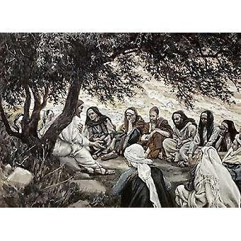 Christs Exhortation To The Twelve Apostles Poster Print by  James Jacques Tissot