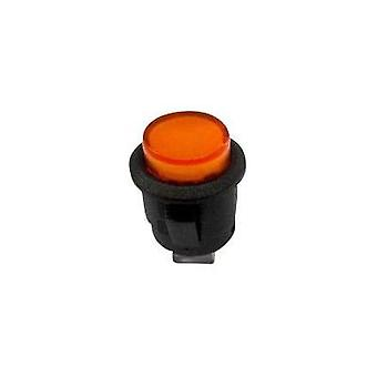 Pushbutton switch 250 Vac 1.5 A 1 x Off/On SCI R13-523BL-05 YELLOW LED latch 1 pc(s)
