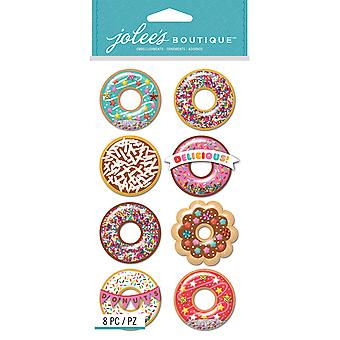 Jolee's Boutique Dimensional Stickers-Donut Snow Globes E5051040