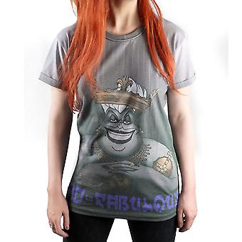 Cosmic Bad Is Fabulous Womens Boyfriend Tshirt Top Grey Crown Jewels Evil