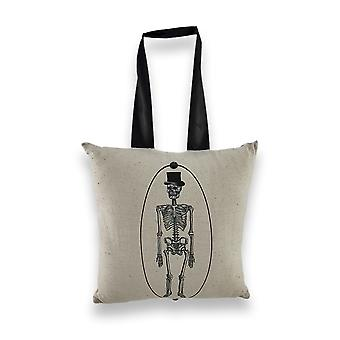 Portrait of Mr. Bones Skeleton Mini Pillow 10 In. Decor