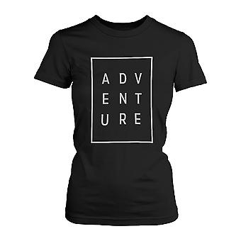 Aventura camiseta Moda tipográfica Tee lindo manga corta de la mujer camiseta