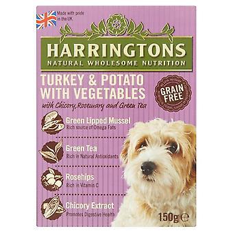 Harringtons våd Tyrkiet & kartofler 150g (pakke med 7)