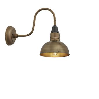 Brooklyn Vintage Swan Neck Wall Sconce - Dome - Brass - 8 inch