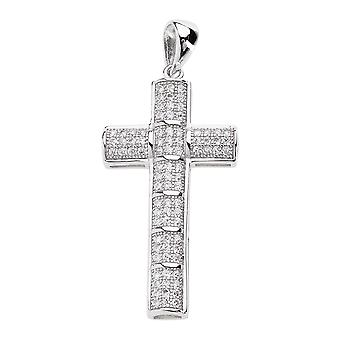 925 iced out sterling silver mini cross - QUALITY
