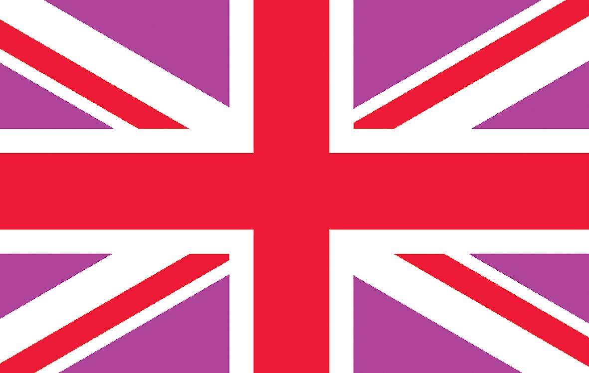5ft x 3ft Flag - UK - Pink and Red Union Jack