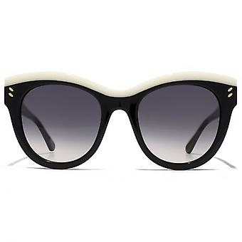Stella McCartney Iconic Two Tone Contrast Cateye Sunglasses In Black