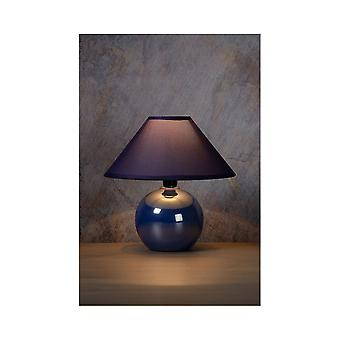 Lucide FARO Globe Blue Pearl Bedside Table Lamp