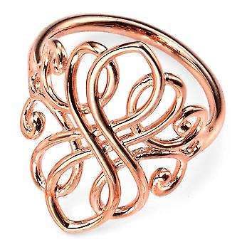925 Silver Rose Gold Plated Trend Ring