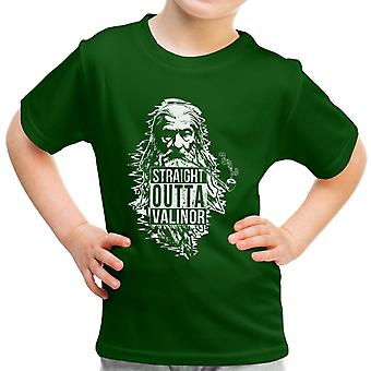 Straight Outta Valinor Gandalf Smoking Lord of the Rings Kid's T-Shirt
