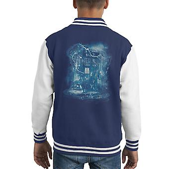 Space And Time Storm Doctor Who Kid's Varsity Jacket