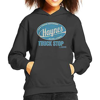 Haynes merk Truck Stop Kid de Hooded Sweatshirt