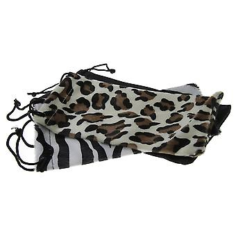 Animal Print Fashion Drawstring Sunglass Pouch