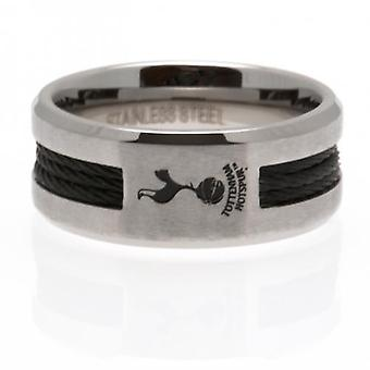 Tottenham Hotspur Black Inlay Ring Large