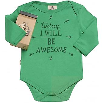 Spoilt Rotten Today I Will Be Awesome Babygrow In Milk Carton Gift