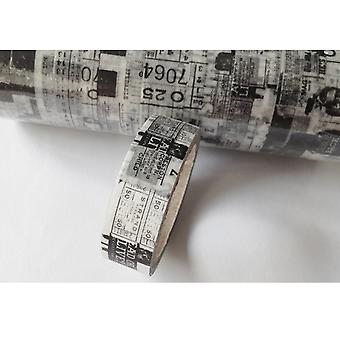 Washi Tape 15Mm X 5M Black & White Type Lmt15x5 561