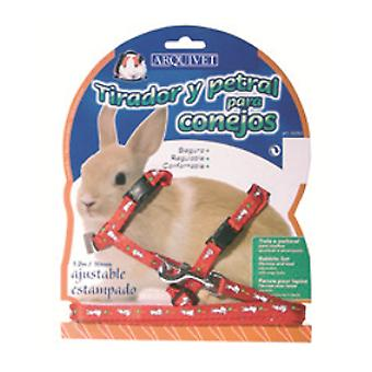 Arquivet Petral Ajust. Rabbit print (Small pets , Leads & Harnesses)