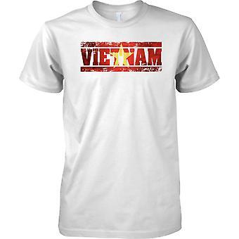 Vietnam Grunge paese nome effetto bandiera - Mens T-Shirt