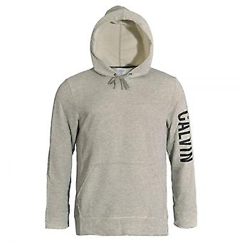 Calvin Klein Pull Over Logo Hoodie, Heather Grey, X-Large