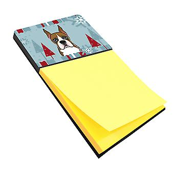 Carolines Treasures  BB1719SN Winter Holiday Boxer Sticky Note Holder