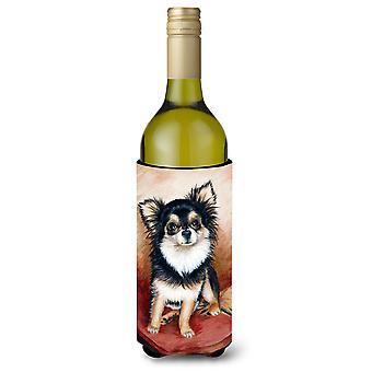Chihuahua capelli lunghi bottiglia di vino bevanda isolante Hugger