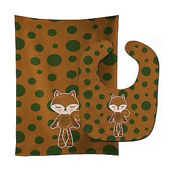 Carolines Treasures  BB9179STBU Squirrel #2 Baby Bib & Burp Cloth
