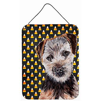 Norfolk Terrier Puppy Candy Corn Halloween Wall or Door Hanging Prints