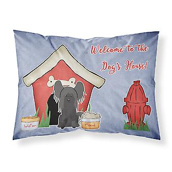 Dog House Collection Chinese Crested Black Fabric Standard Pillowcase