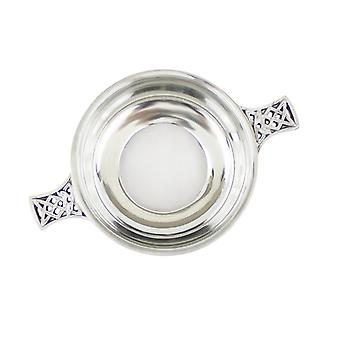 Celtic Handle Quaich with Glass Bottom (BPC0 EP)