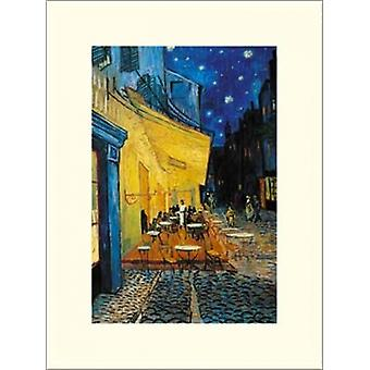The Cafe Terrace on the Place du Forum Arles at Night c1888 Poster Print by Vincent Van Gogh (12 x 16)