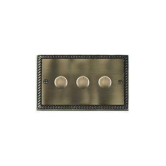 Hamilton Litestat Cheriton Georgian Antique Brass  3g 100W LED Dimmer AB